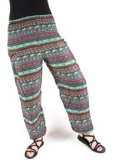 Turecké kalhoty sultánky FLOW viskóza Thajsko TT0043-01-040