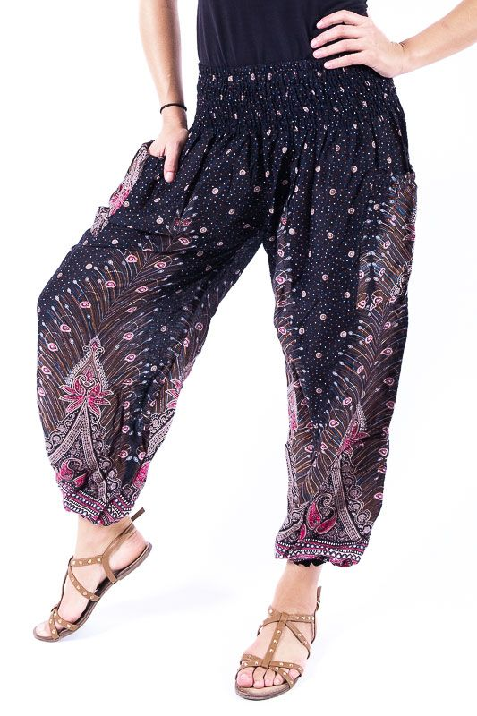 Turecké kalhoty sultánky FLOW viskóza Thajsko TT0043-01-036