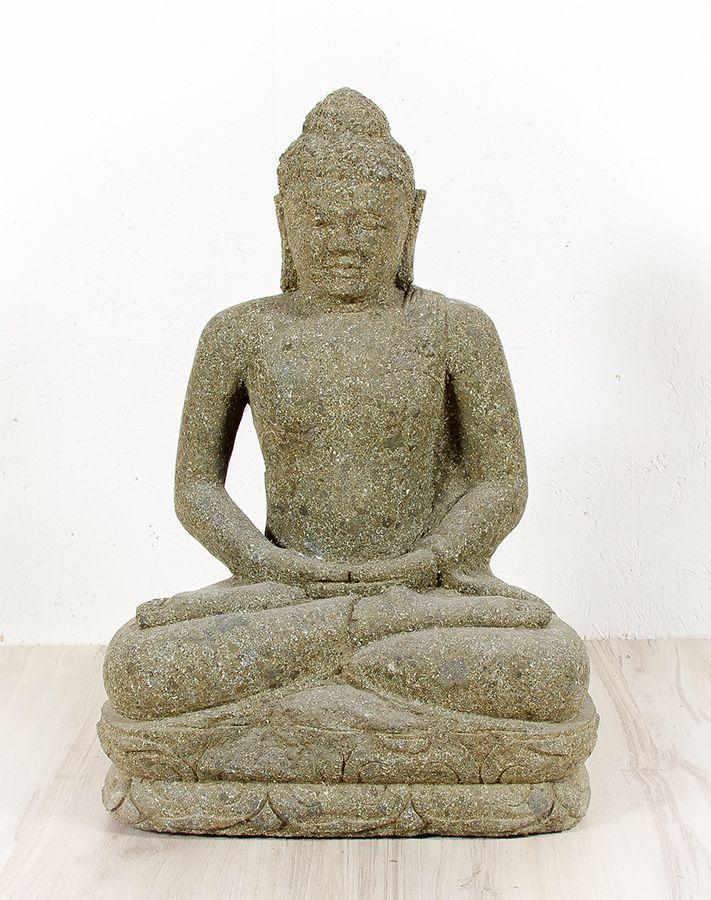Kamenná socha Buddhy 50 cm z lávy - ID1607904