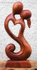 Soška Milenci abstrakt dřevo suar Indonésie 20 cm ID1609821-02