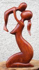 Soška DVA  40 cm abstrakt dřevo suar Indonésie ID1604819-02