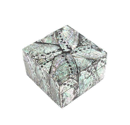 Krabička na drobnosti (šperkovnice) z perleti a resinu L - ID1601207-03