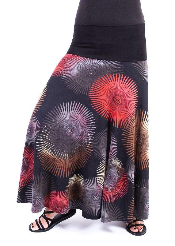 Dámská dlouhá sukně LOLA z teplejšího materiálu - TT0100-01-125