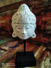 Dekorace maska Buddha 35 cm  - bílá  ID1701004-01