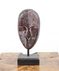 Dekorace maska střední  - s bílou patinou  ID1608203 02