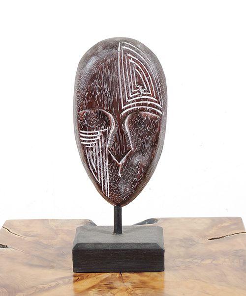Dekorace maska střední - s bílou patinou - ID1608203 02