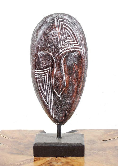 Dekorace maska velká - s bílou patinou - ID1608203 03