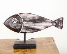 Dekorace ryba střední  - s bílou patinou  ID1608202  02B