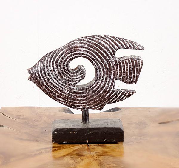 Dekorace ryba malá - s bílou patinou - ID1608209 01