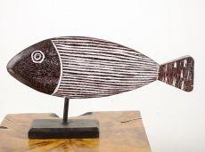Dekorace ryba velká  - s bílou patinou  ID1608202  03B