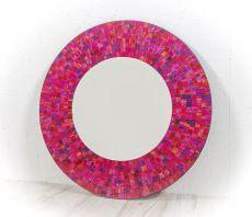 Dekorativní interiérové zrcadlo - skleněná mozaika kulaté 60 cm - ID1602007-02