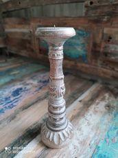 Dekorativní svícen dřevo albesia 30 cm  ID1701008-01
