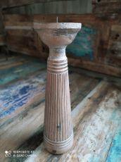 Dekorativní svícen dřevo albesia 30 cm  ID1701009-01