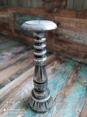 Dekorativní svícen dřevo albesia 30 cm  ID1701010-01