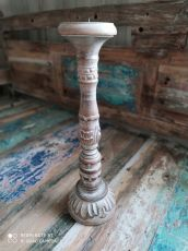 Dekorativní svícen dřevo albesia 40 cm  ID1701008-02