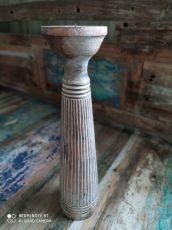 Dekorativní svícen dřevo albesia 40 cm  ID1701009-02