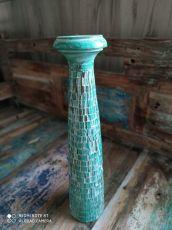 Dekorativní svícen dřevo albesia 50 cm  ID1701007-03