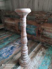 kopie Dekorativní svícen dřevo albesia 50 cm  ID1701008-03