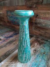 Dekorativní svícen dřevo albesia 30 cm  ID1701007-01