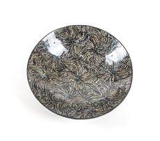 Dekorativní talíř vykládaný perletí v resinu (obě strany) - ID1606506-02