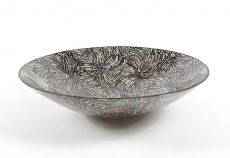 Dekorativní talíř vykládaný perletí v resinu (obě strany)  ID1606506-02