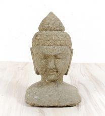 Kamenná hlava Buddhy 38 cm z lávy  ID1609903