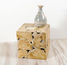 Konferenční stolek krychle 40 z teakového dřeva ID1608701