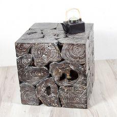 Konferenční či odkládací stolek krychle 50 z teakového dřeva ID1608704