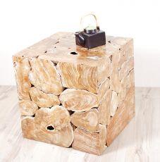 Konferenční či odkládací stolek krychle 50 z teakového dřeva ID1608703