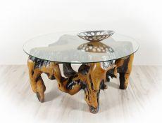 Konferenční stůl z teakového dřeva se skleněnou deskou ID1603605-ID1605902