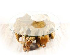 Konferenční stůl z teakového dřeva se skleněnou deskou ID1603604-ID1605902