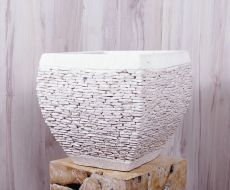 Masivní dekorativní květináč (nebo obal) BALI TRAY 2  ID1608603
