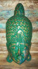 Maska Buddha 50 cm - nástěnná bytová dekorace, dřevořezba Indonésie