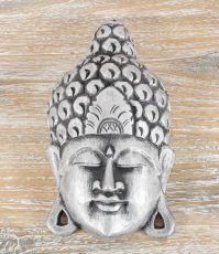 Maska Buddha 25 cm - nástěnná bytová dekorace, dřevořezba Indonésie
