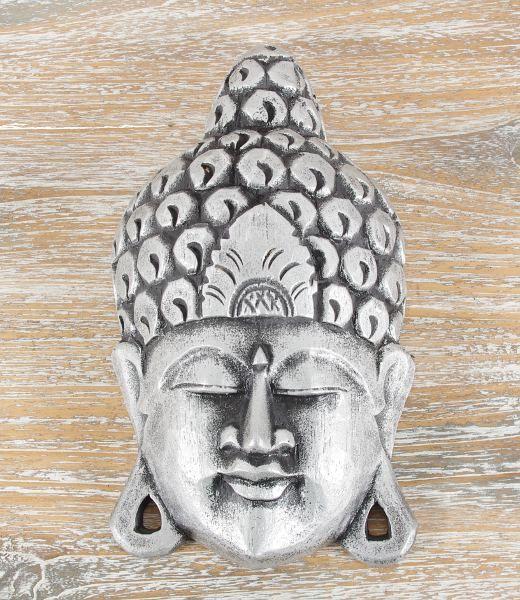 Maska Buddha - nástěnná bytová dekorace, dřevořezba Indonésie ID1605807-D