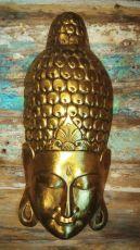 Maska Buddha 60 cm - nástěnná bytová dekorace, dřevořezba Indonésie