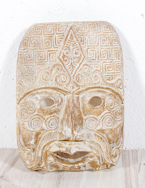 Maska PRIMITIVO 32 cm - nástěnná bytová dekorace, železné dřevo ID1601406