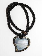 Náhrdelník perličkový s přívěškem  IS0001-034