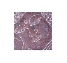 Nástěnná dekorace - panel - Buddha  vyřezávaná 30 x 30 cm  ID1608207-02