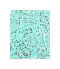 Nástěnná dekorace - panel - Buddha  vyřezávaná 50 x 40 cm  ID1607211 - 02