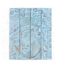 Nástěnná dekorace - panel - Buddha  vyřezávaná 50 x 40 cm  ID1607211 - 03