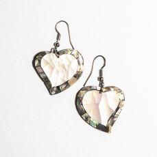 Náušnice - kombinace resin s perletí  IS0011-069