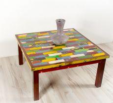 Originální masivní konferenční stůl z recyklovaného lodního dřeva - ID1607501