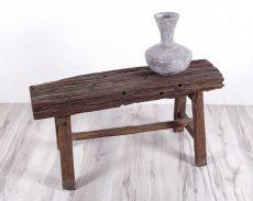 Rustikální stolička (lavička) z recyklovaného dřeva ID1607805