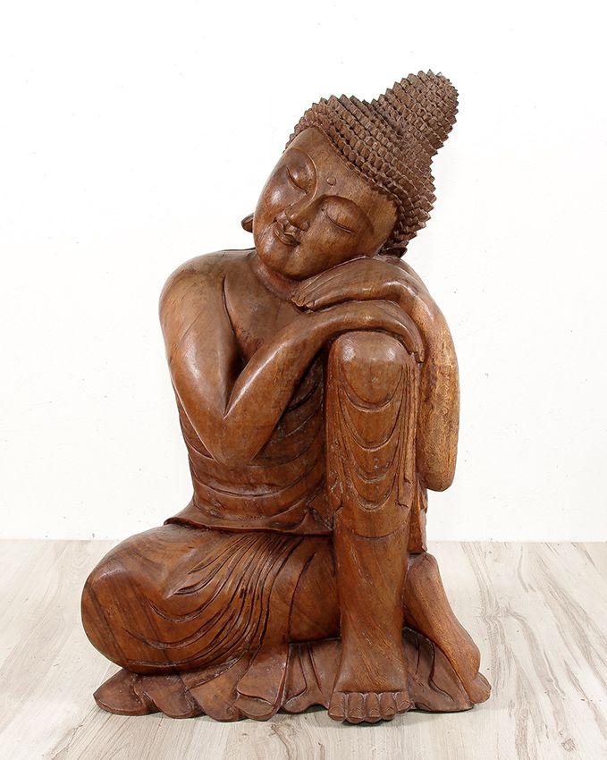 Socha BUDDHA abstrakt, 82 cm, dřevo Indonésie ID1601301