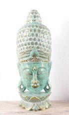 Socha - maska  Buddha 102 cm  - bytová dekorace, dřevořezba Indonésie  ID1602501