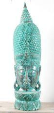 Socha - maska Buddha 150 cm - bytová dekorace, dřevořezba Indonésie  ID1605809