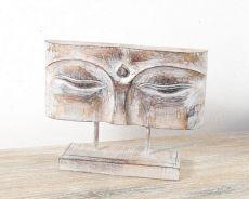 Socha - maska -  Buddha 32 cm -  bytová dekorace, dřevořezba Indonésie  ID1602506-01