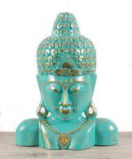 Socha - maska -  Buddha 60 cm -  bytová dekorace, dřevořezba Indonésie  ID1602504
