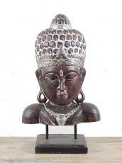 Socha - maska -  Buddha 62 cm -  bytová dekorace, dřevořezba Indonésie  ID1608205